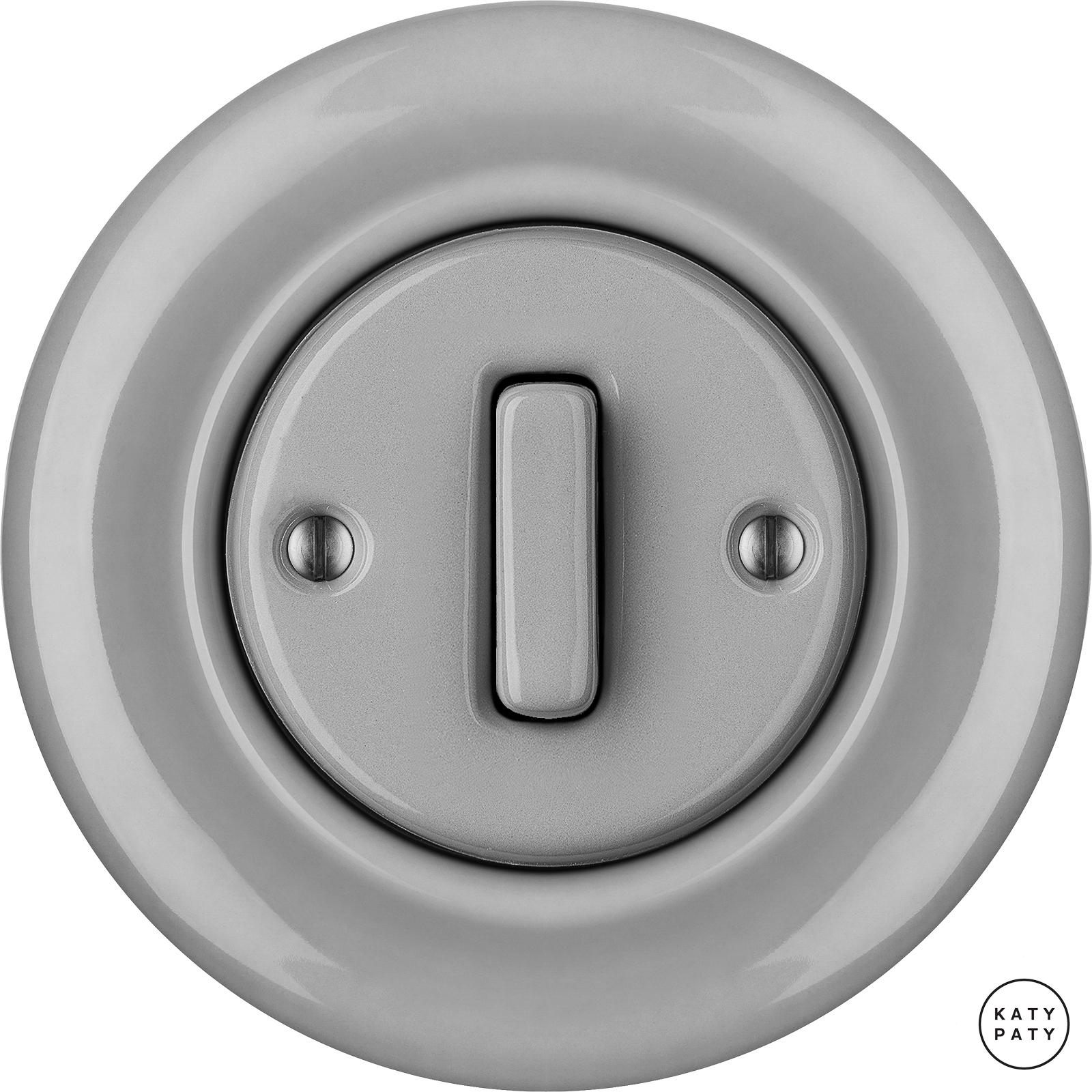 Porcelain switches - 1 gang - SLIM ()  - CANA | Katy Paty