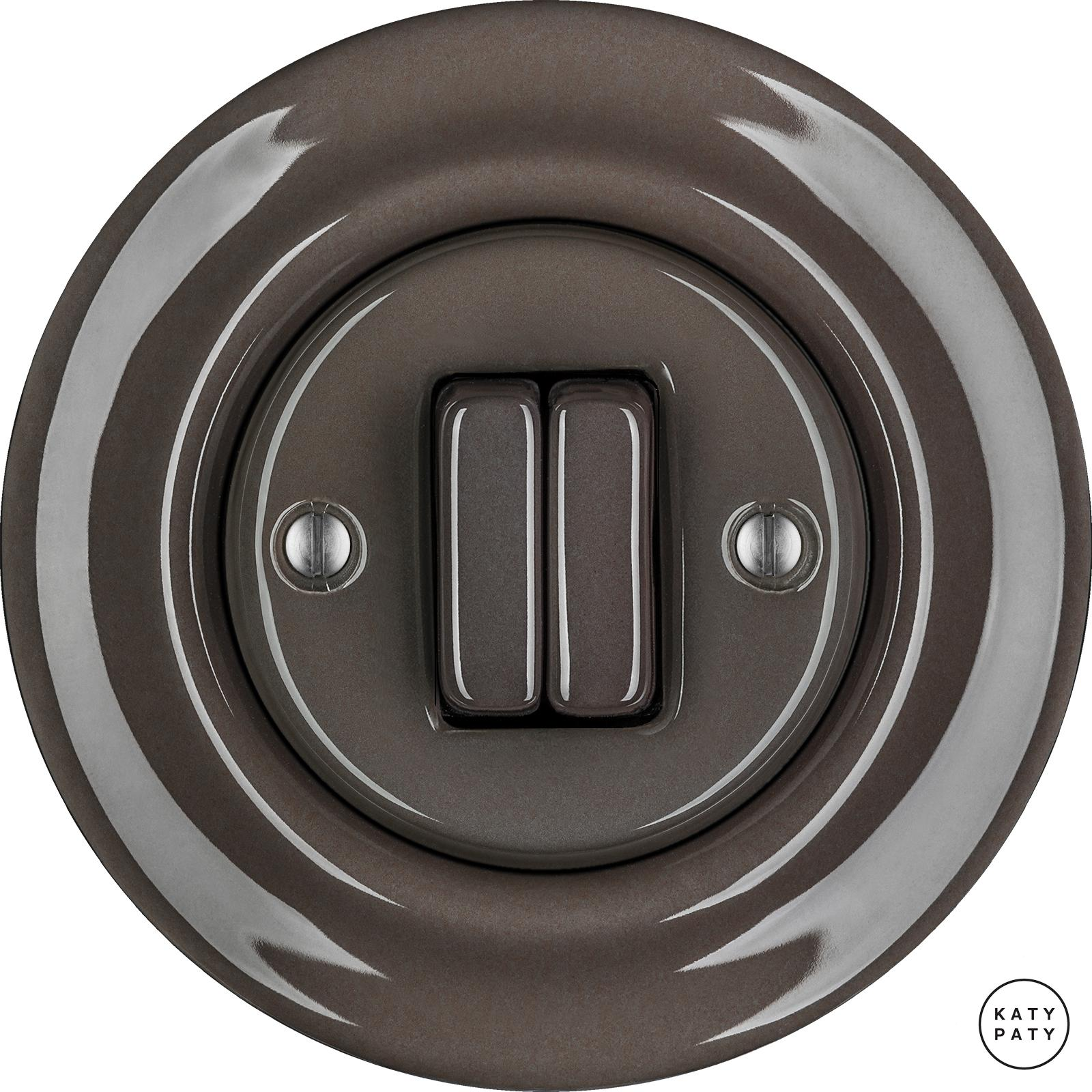 Porcelain switches - a double key ()  - BRUNETUM | Katy Paty