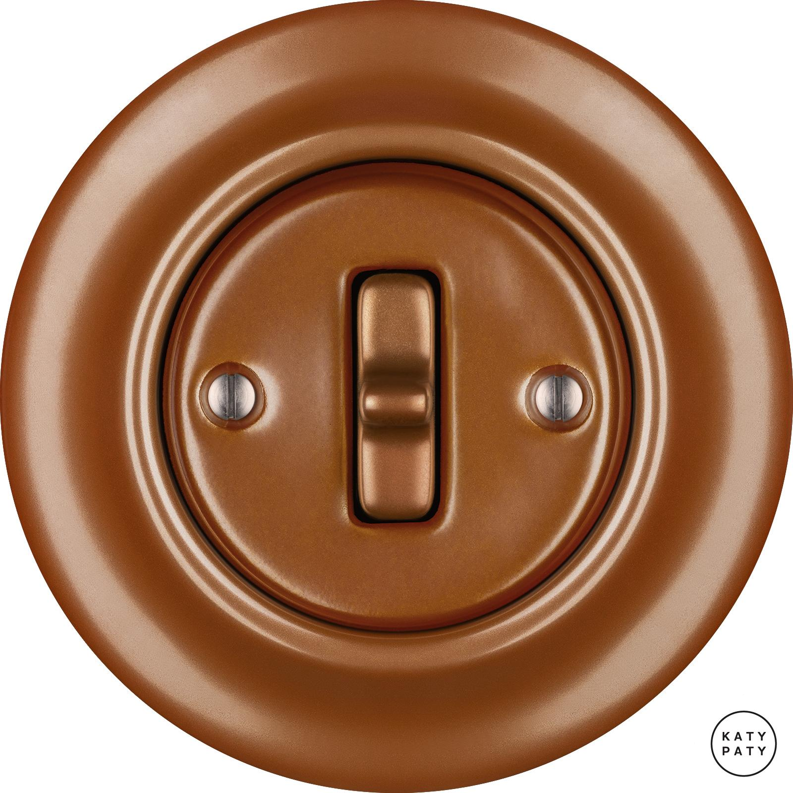 Porcelain Toggle switches - 1 gang ()  - CUPRUM | Katy Paty