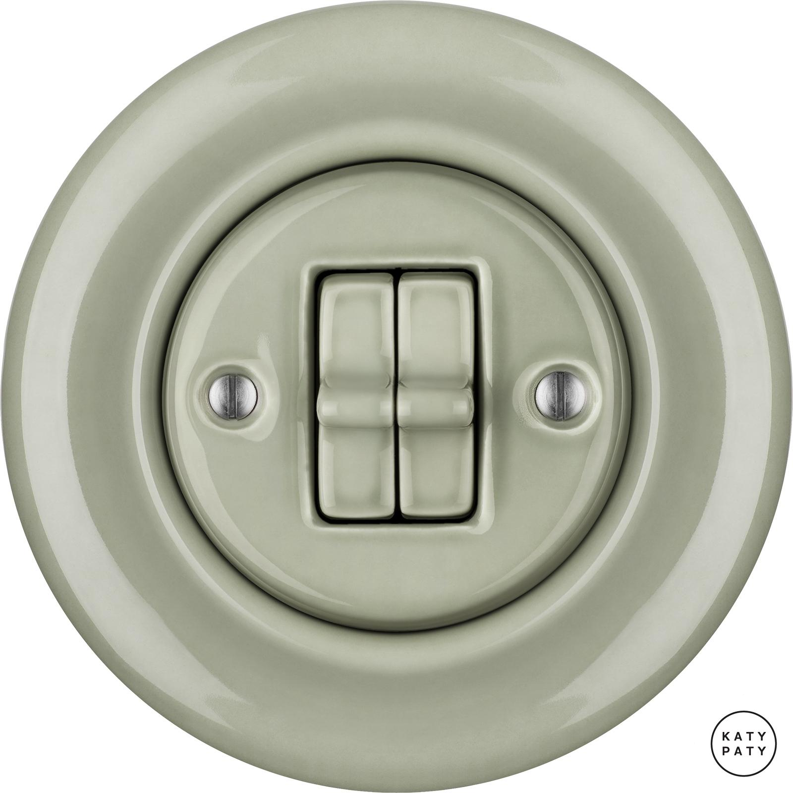Porcelain toggle switches - a double gang ()  - CHLORA | Katy Paty
