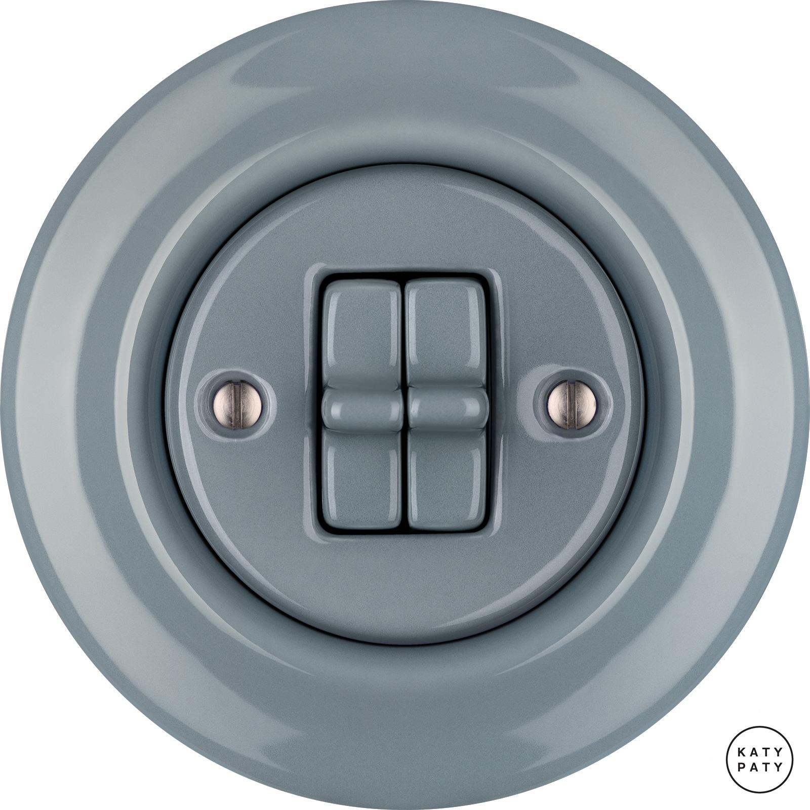 Porcelain toggle switches - a double gang ()  - LIVOR | Katy Paty