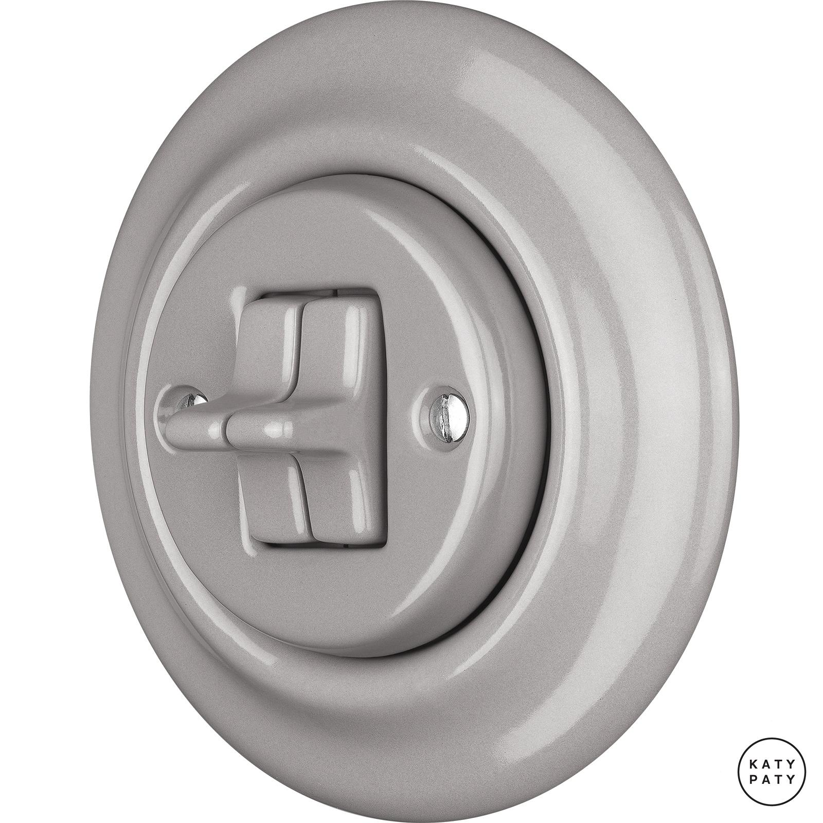 Porcelain toggle switches - a double gang ()  - LUCIDUM | Katy Paty