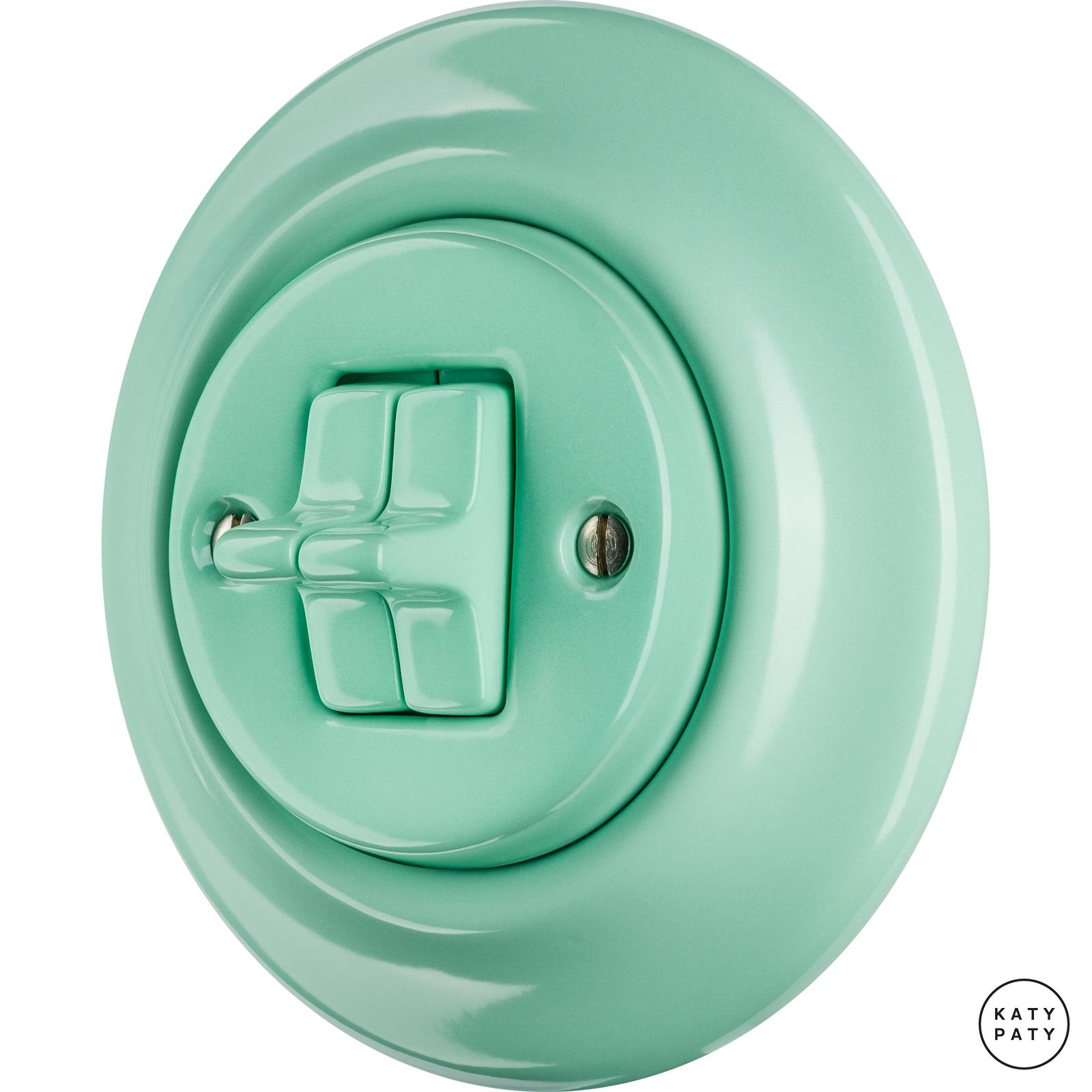 Porcelain toggle switches - a double gang ()  - PNOE MENTOL | Katy Paty