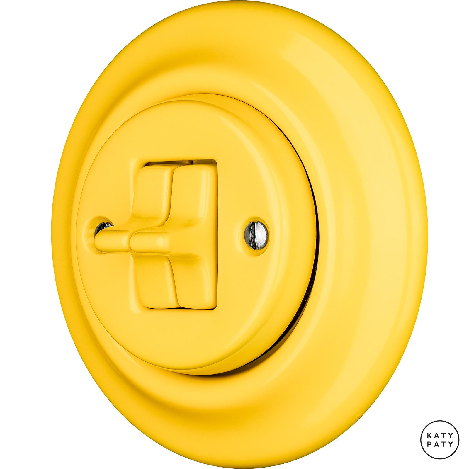 Porcelain toggle switches - a double gang ()  - NITOR LUTEA | Katy Paty