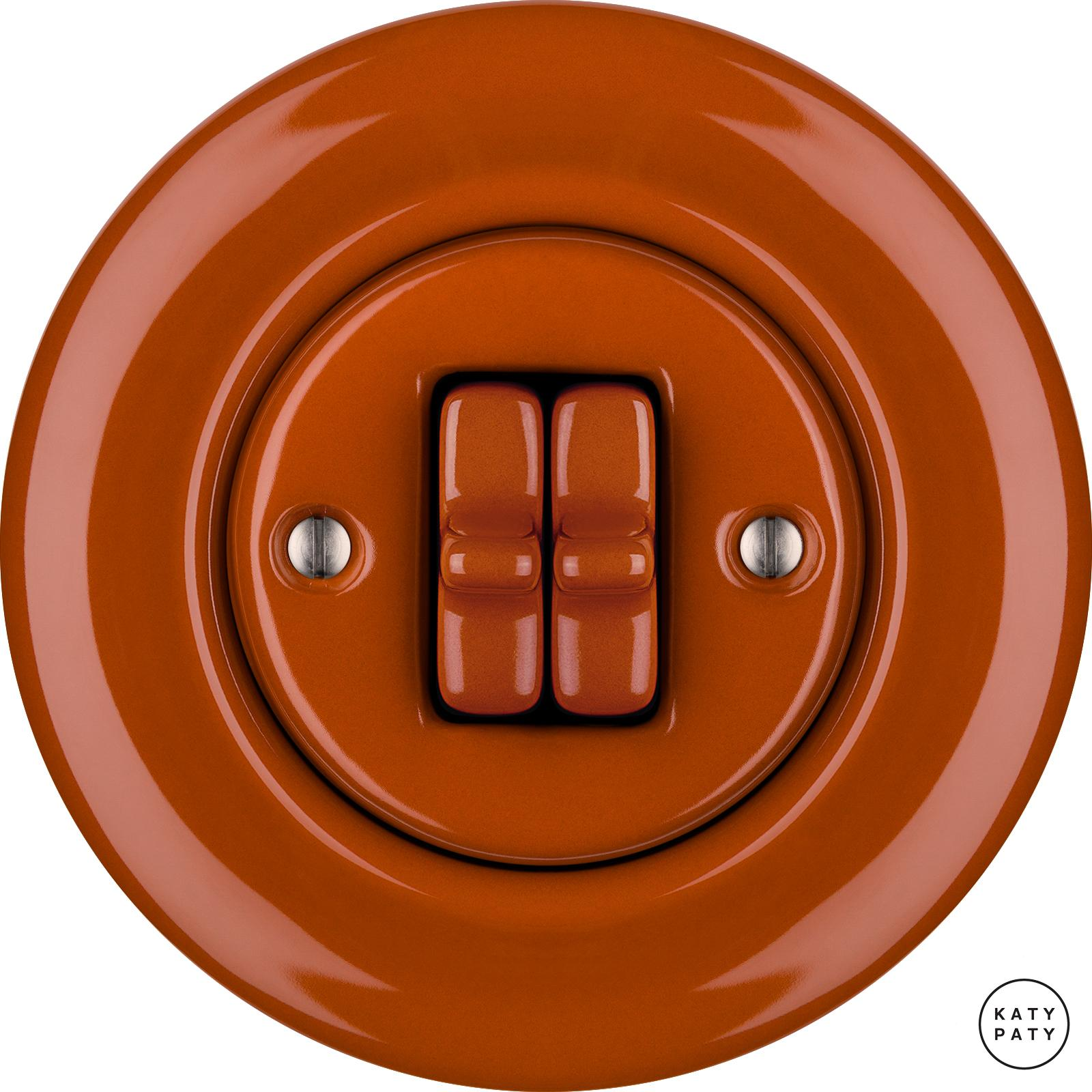 Porcelain toggle switches - a 2 gang ()  - AURANTIA | Katy Paty