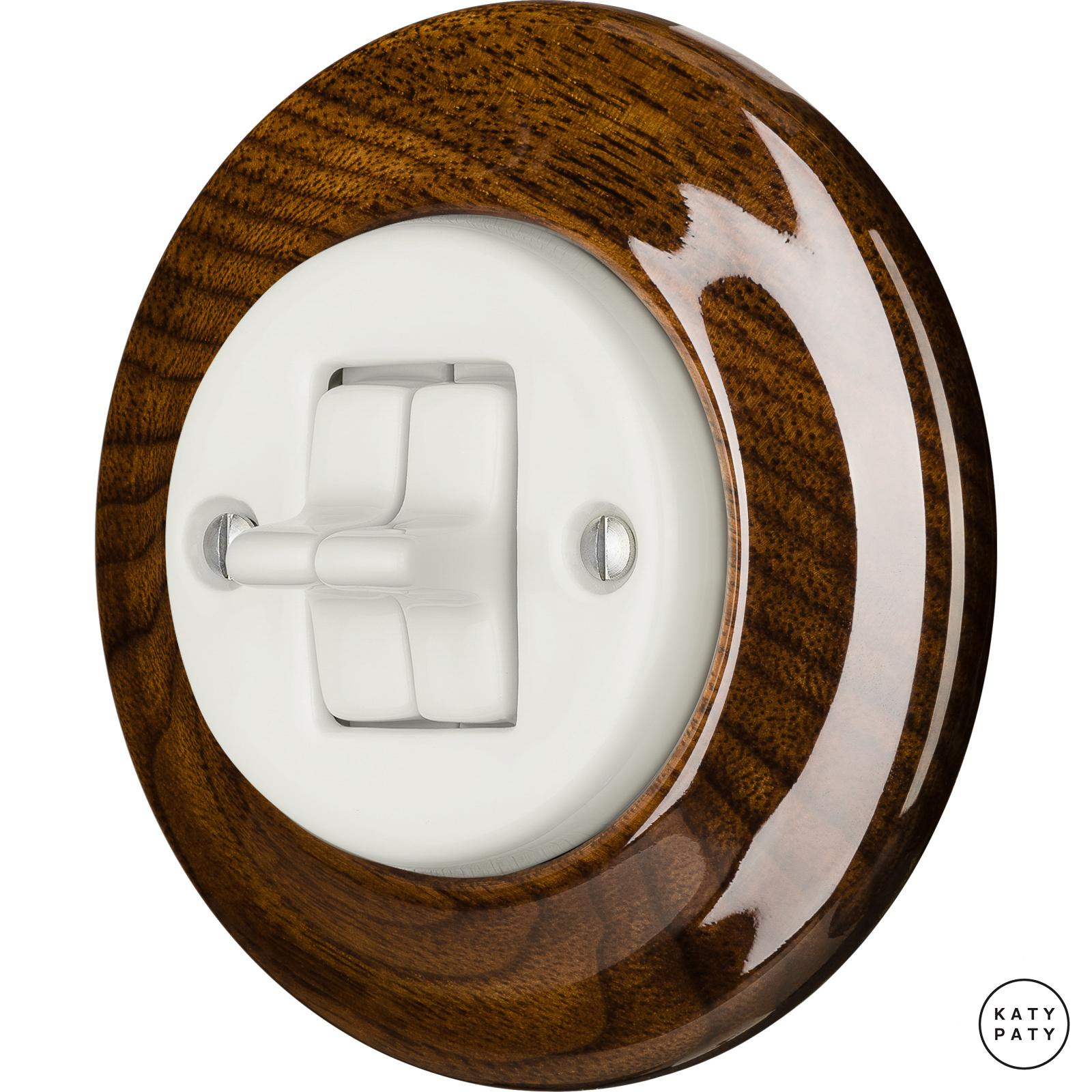 Porcelain toggle switches - a double gang ()  - NUCLEUS | Katy Paty
