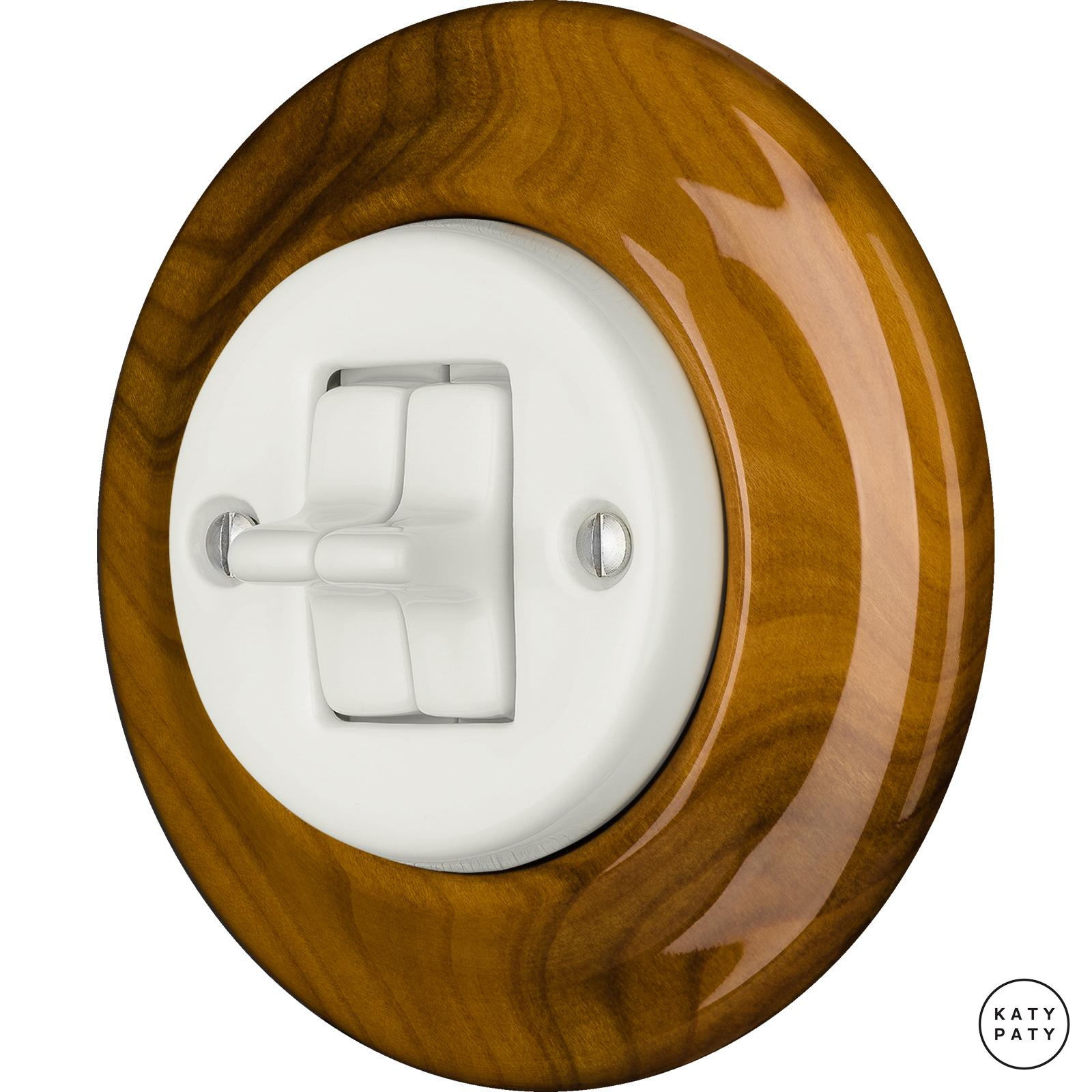 Porcelain toggle switches - a double gang ()  - PADELUS | Katy Paty