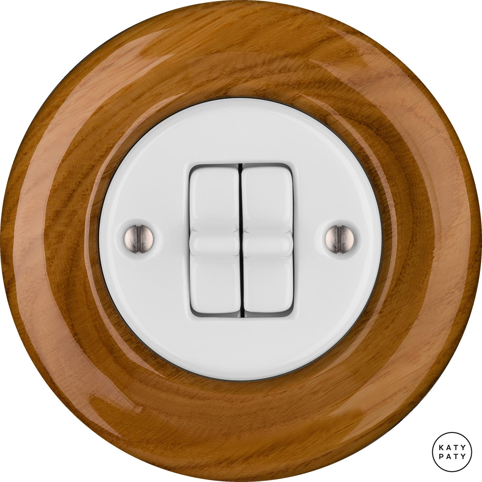 Porcelain toggle switches - a double gang ()  - ROBUS | Katy Paty