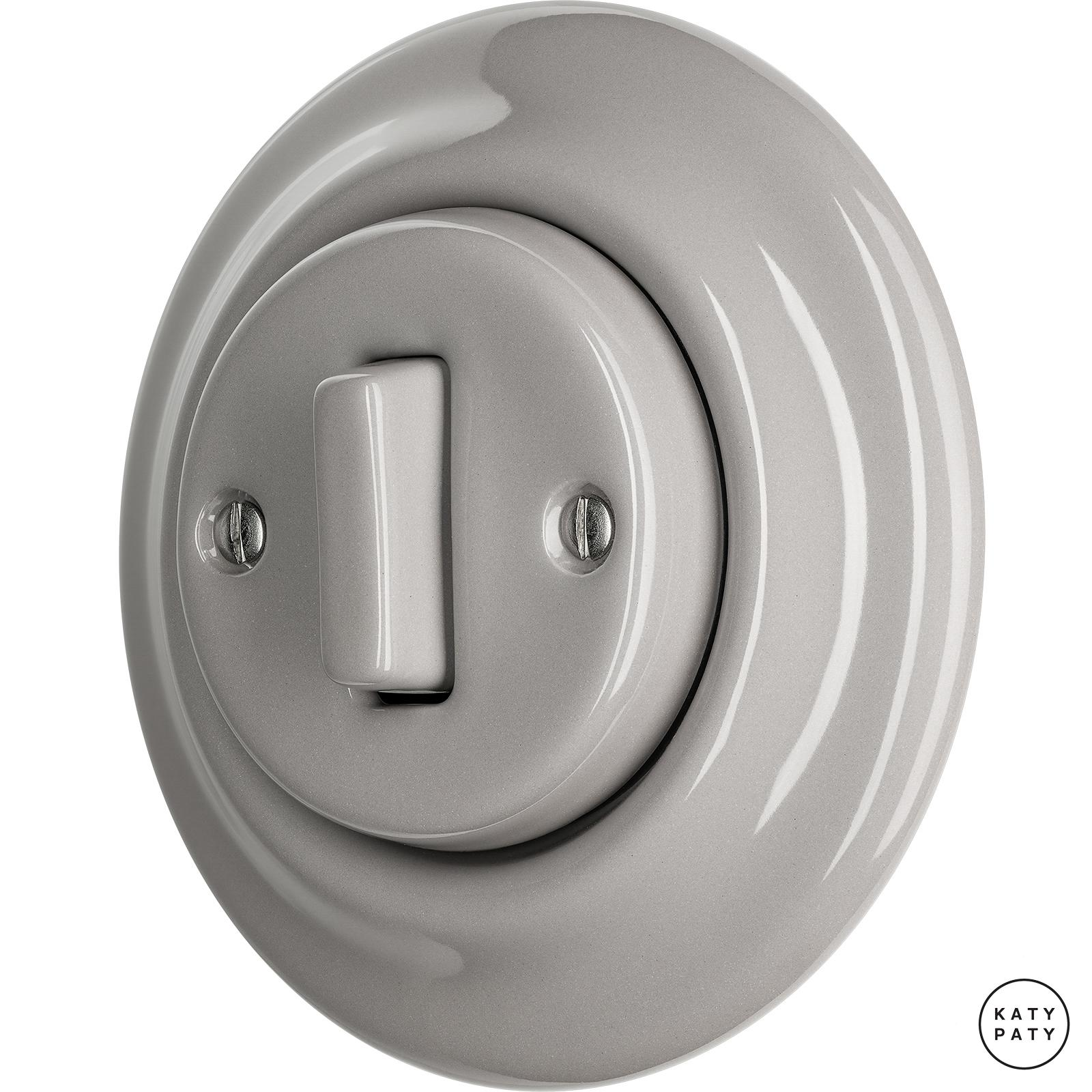 Porcelain switches - 1 gang - SLIM ()  - LUCIDUM | Katy Paty