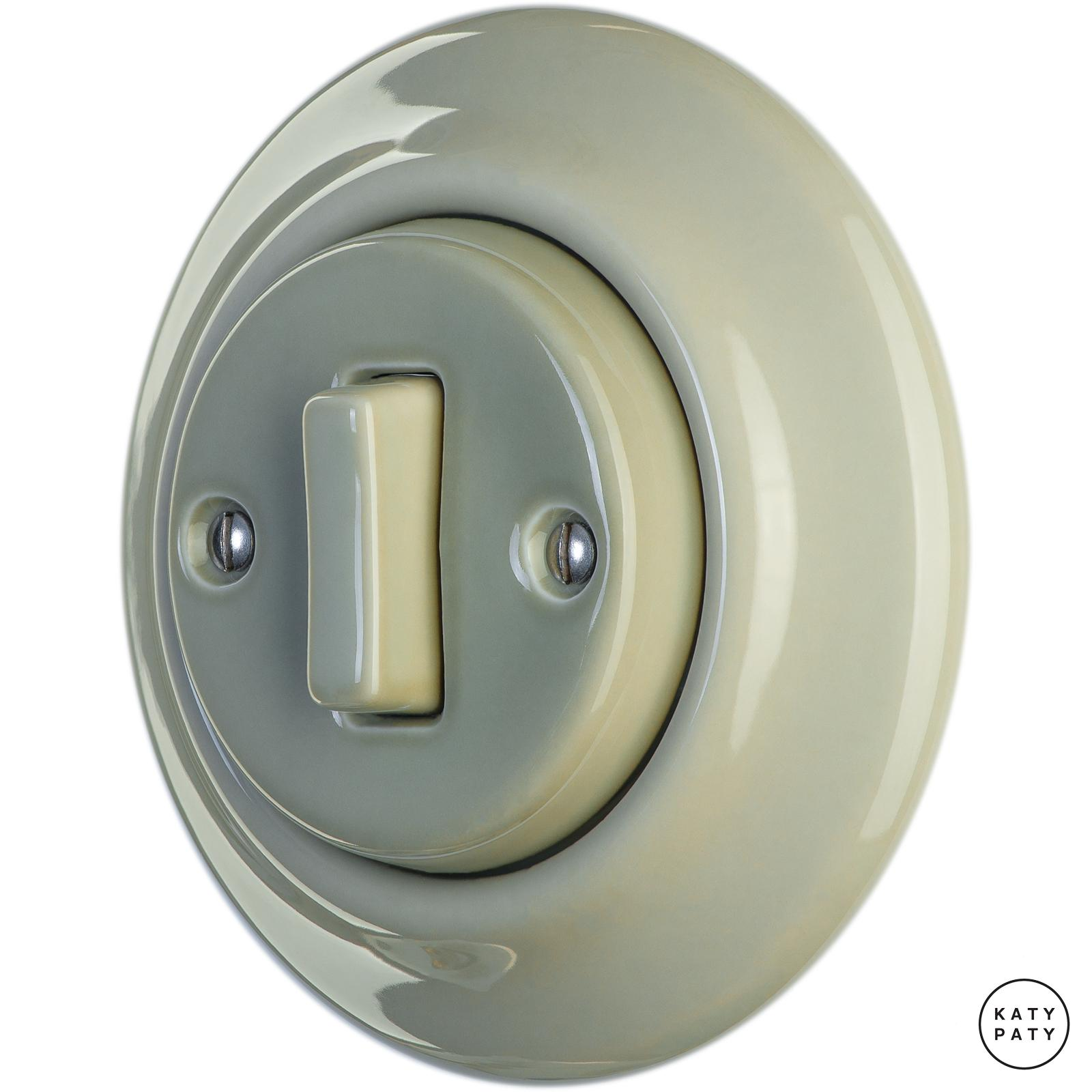 Porcelain switches - a single key - SLIM ()  - CHLORA | Katy Paty