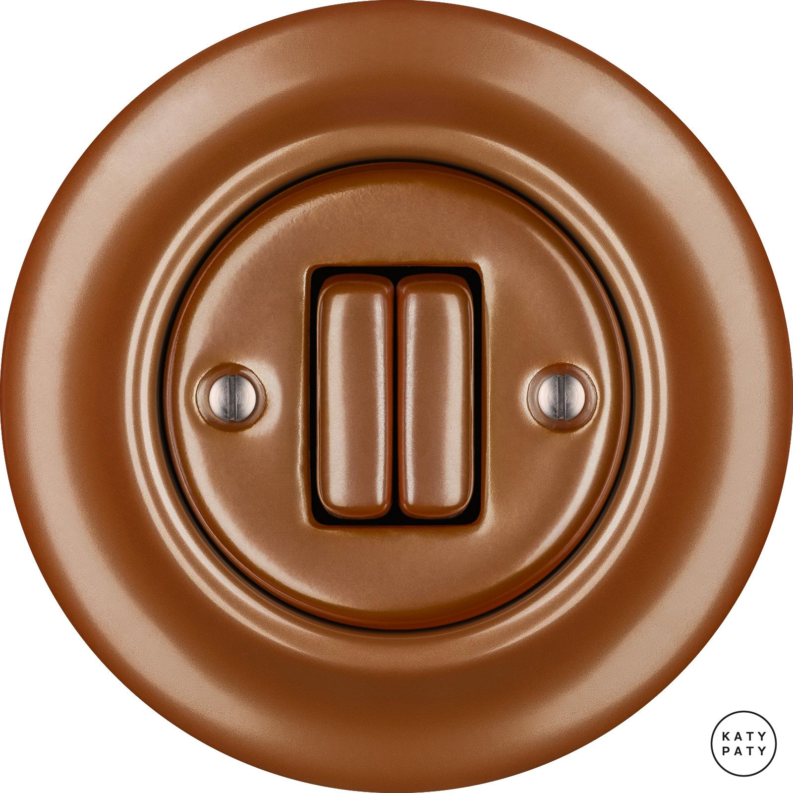 Porcelain switches - a double key ()  - CUPRUM | Katy Paty