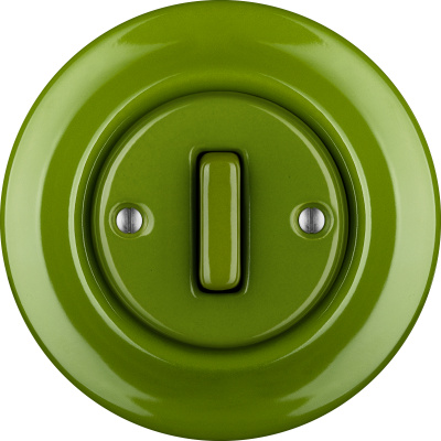 Katy Paty | Porcelain switches - 1 gang - SLIM ()  - NITOR CHLORA