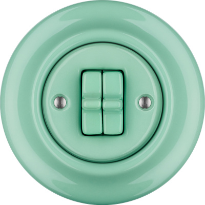 Porcelain toggle switches - a 2 gang ()  - PNOE MENTOL | Katy Paty