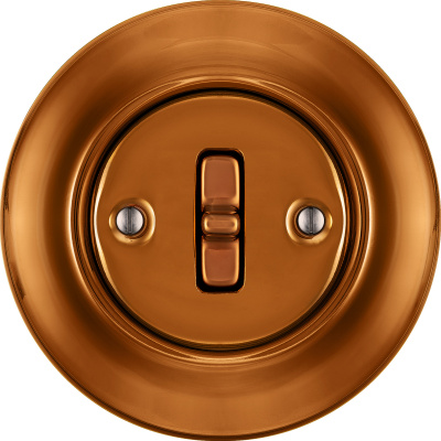 Porcelain Toggle switches - a single key ()  - CUPRUM NITIDUM | Katy Paty